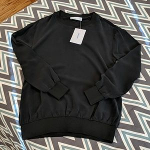 Grana Silk Woven Sweatshirt Sz XS